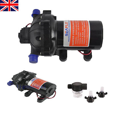 60PSI 5.0GMP Diaphragm Water Pump 12V Filter Garden Dirty Water Koi Fish Pond