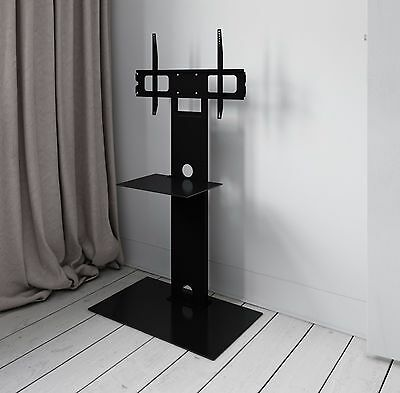 High Gloss TV Stand with TV Bracket Mount for Plasma LCD TV Black Glass 30 - 50""