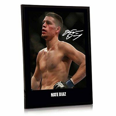 "Nate Diaz UFC canvas tribute signed Framed 12"" x 16"" ""Great Gift / Souvenir"""