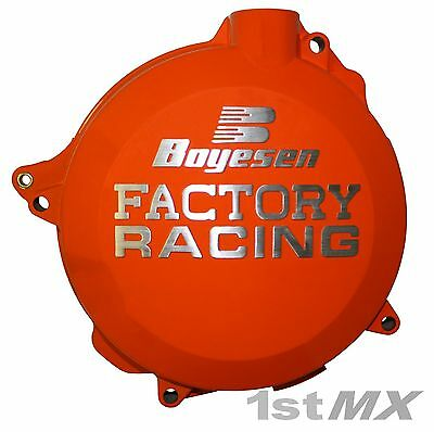 Boyesen Factory Racing Clutch Cover Motocross MX Orange KTM 250 SXF 2009