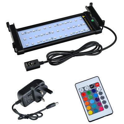 Hood Lighting Color Changing Remote  Dimmable Aquarium Fish Tank Light Lamp