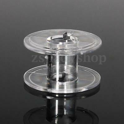 25x Clear New Industrial Sewing Machine Thread Bobbins Spools for Singer