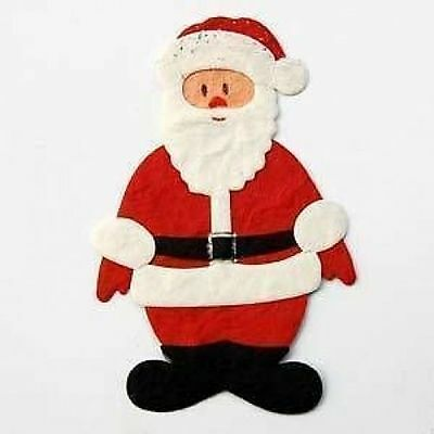 4 x 3D DIE CUT CHRISTMAS SANTA TOPPERS EMBELLISHMENTS