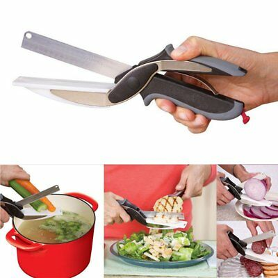 Clever Cutter 2 in1 Shears Cutting Board Scissors Food Choppers Vegetable Slicer