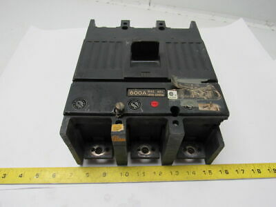 GE General Electric TJK636F000 Molded Case 600A 600V 3 Pole Circuit Breaker