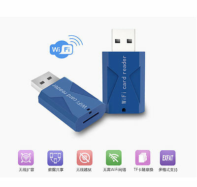 WiFi Wireless Smart Card Reader TF memory reader For iPad smart mobile phone AU