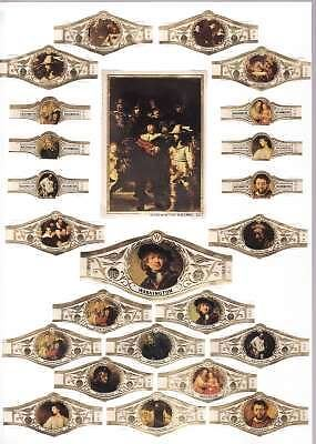 24 cigar bands Washington The History Of Art Painting Set 50  iss in 1971