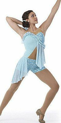 Waterfall Contemporary Lyrical Dance Dress Costume Ballet Child & Adult Sizes