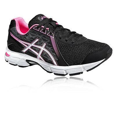 ASICS Gel-Impression 8 Womens Black Cushioned Running Sports Shoes Trainers