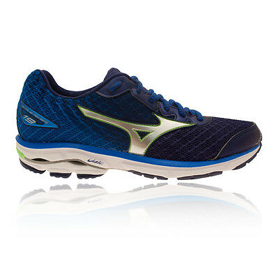 Mizuno Wave Rider 19 Mens Blue Cushioned Running Sports Shoes Trainers