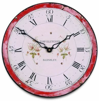 """36cm Rustic Inspired """"English Grandfather Clock"""" Distressed Kitchen Wall Clock"""