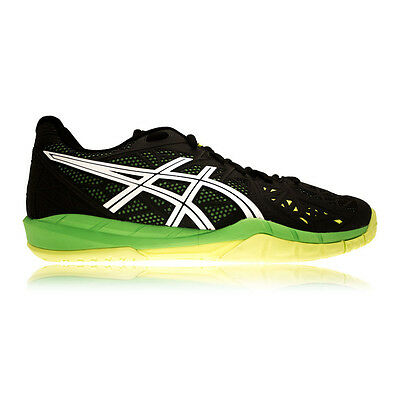 Asics Gel-Fireblast 2 Mens Green Black Indoor Court Squash Shoes Trainers