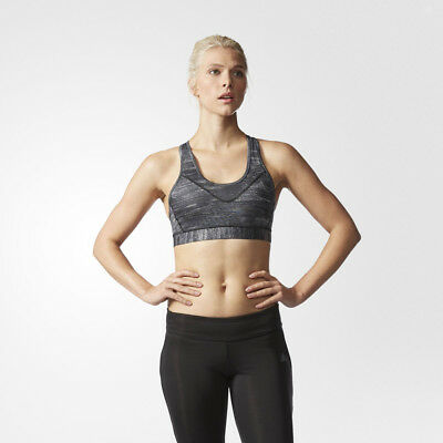 Adidas TechFit Moulded Cup Womens Black Running Sports Bra Support Top