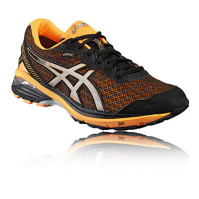 Asics GT-1000 5 Mens Orange Black Support Gore Tex Waterproof Running Shoes