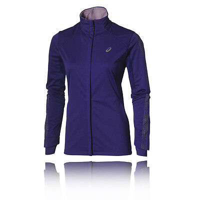Asics Lite-Show Winter Womens Purple Water Resistant Running Jacket Top