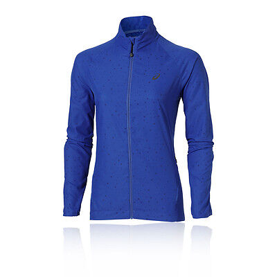 ASICS Lite Show Womens Blue Thermal Water Resistant Running Jacket Top