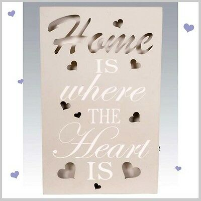 Home Light Up LED WALL PLAQUE Hanging SIGN Heart  Designs