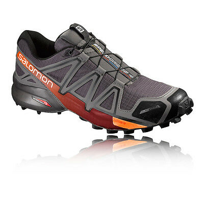 Salomon Speedcross 4 CS Mens Grey Silver Trail Running Sports Shoes Trainers
