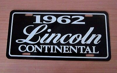 1962 Lincoln Continental License plate tag 62 Mark ll 2
