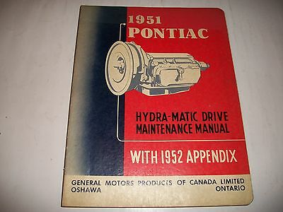 1951-1952 Pontiac Hydra-Matic Drive Transmission Shop Manual With 1952 Appendix