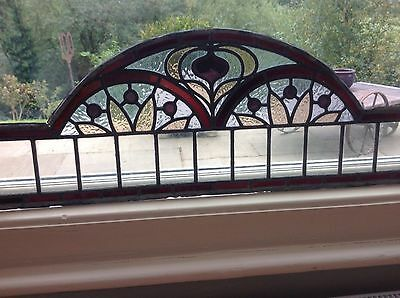 Antique Leaded Stained Glass Window Panels