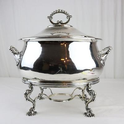 A George II Sheffield Silver Tureen on Stand 18th Century Rococo Magnificent