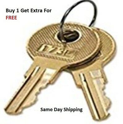 2 HON File Cabinet Replacement Keys For Series 101E-225E Keys Cut By Locksmith