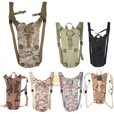 3L Hydration Packs Tactical Water Bladder Bag Assault Backpack Hiking Pouch New
