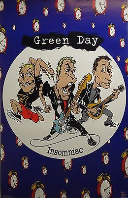 Green Day 23x35 Insomniac Music Poster 1996