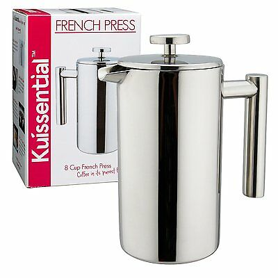 Kuissential 8-Cup Stainless Steel French Press Coffee Plunger Press Pot