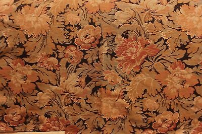 Beautiful Antique 19thC French Woven Jacquard Tapestry Floral Textile c1890