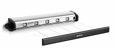 Brabantia Compact Stainless Steel Pull Out Indoor Drying Clothes Line 22 Metres