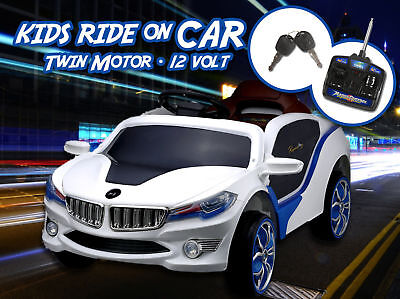 BMW i8 STYLE KIDS RIDE ON CAR 50W MOTOR 12V RECHARGEABLE 2 SPEED REMOTE WHITE