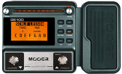 Mooer GE100 Multi-Effects Processor with Expression Pedal