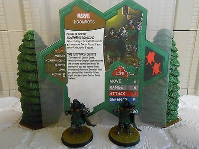 Heroscape Custom Doombots Double Sided Card and Figures w/ Sleeve Marvel
