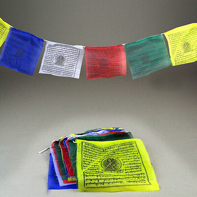 25 Tibetan Prayer Flags 5.35metres long 19x21cm flags Religion Buddhist Spirit