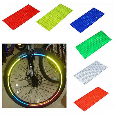 Fluorescent Bike Bicycle Sticker Cycling Wheel Rim Reflective Stickers Decal New