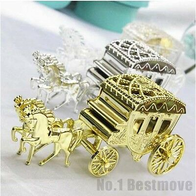 1Pcs Cinderella Carriage Candy Chocolate Boxes Birthday Wedding Party Favor