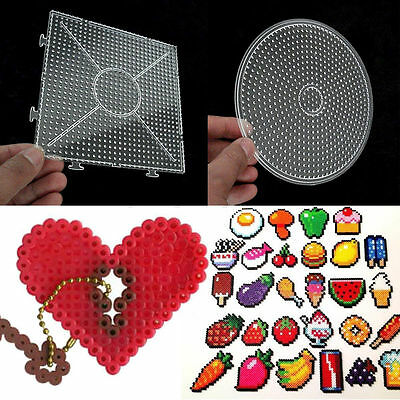 3D DIY Large Pegboards for Perler Bead Hama Fuse Beads Clear Square Design Board