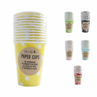 Paper Cups Party (9oz) Polka - Tableware Wedding Birthday Decorations