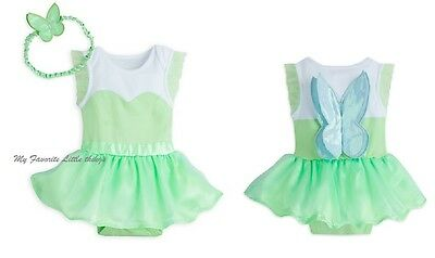 Disney Store baby TINKER BELL fairy Cuddly Bodysuit costume UCHOOSE NWT