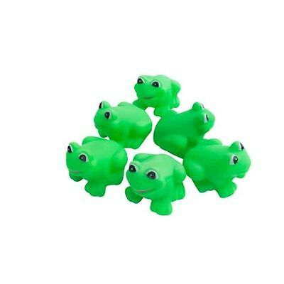 Cute Rubber Bath Toy Set of 6 Frogs