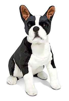 Boston Terrier Plush Melissa And Doug 21 x 18 x 8 inches Polyester Fiber Stuffed