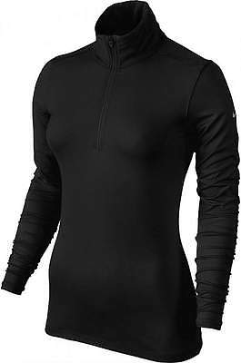Nike Golf Women's LUCKY AZALEA Mesh 1/2 Zip Pullover Top 640400 010 Black