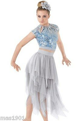 New Figure Ice Skating Baton Twirling Dress Costume  Lyrical Dance Competition