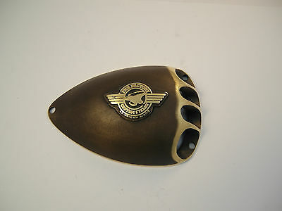 Harley Air Cleaner W/Logo Brass