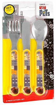 The Secret Life of Pets 3 Piece Cutlery Set | Fork and Spoon