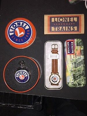 Lionel Trains Limited Collectors Edition Watch and Pocket Watch