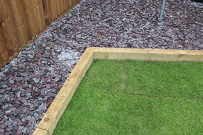 New Wooden Garden Railway Sleepers Treated Timber 2.4mx100mmx200mm Raised Beds