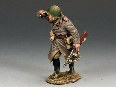 King and (&) Country RA031 - Red Army Officer w/Burp Gun- Retired